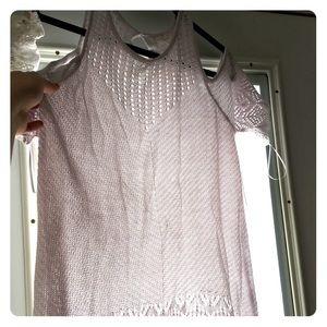 Lauren Conrad knitted off the shoulder top